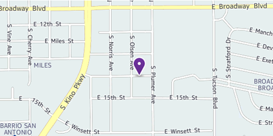 map for Kola LLC 2102 E 14th Street